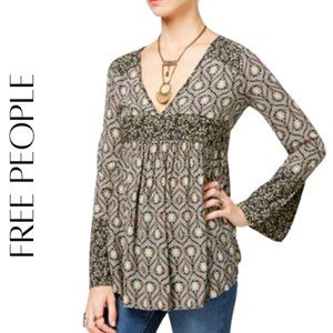 FREE PEOPLE Rolling Hills Peasant Top, S NWT!